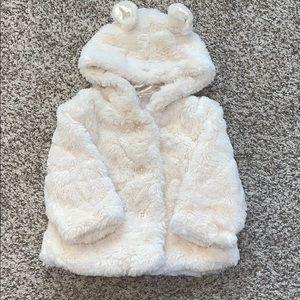 Koalakids Faux fur jacket, 6-9 months